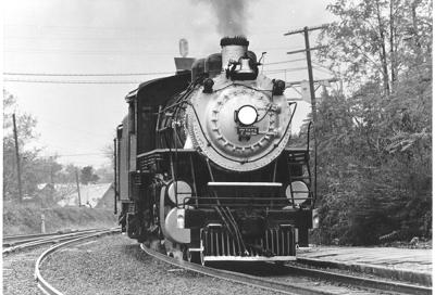 Virginia Blue Ridge Railway's Steam Engine 772 crossing the Tye River.  From the VBRR photos donated by Sam Delaura; originals photos by Marion Sprouse.